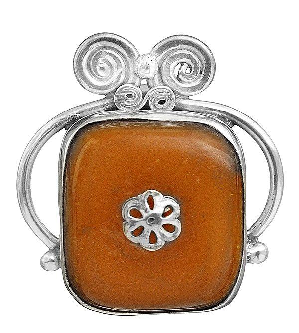 Amber Crown Pendant