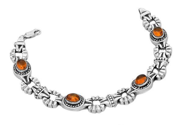 Oval Amber Bracelet