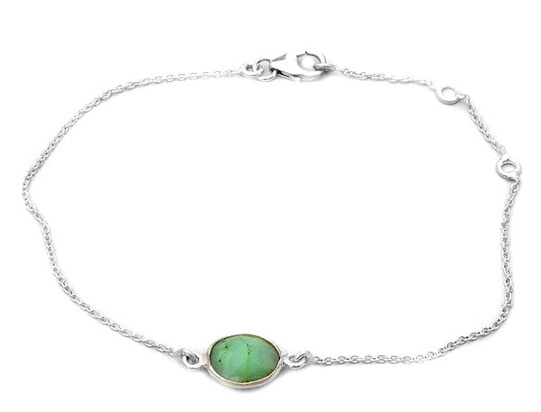 Faceted Jade Chain Bracelet