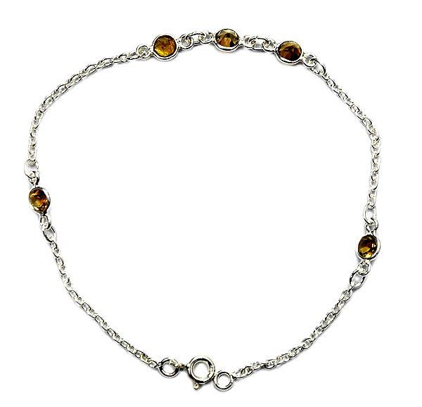Faceted Tourmaline Chain Bracelet
