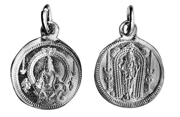 Ayyappan  Pendant with  Kuruvayurapar on Reverse (Two Sided Pendant)