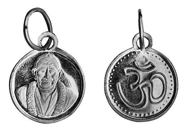 Shirdi Sai Baba Pendant with OM (AUM) on Reverse (Two Sided Pendant)