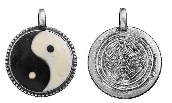 Yin Yang Pendant with Vishva Vajra on Reverse (Made in Nepal)