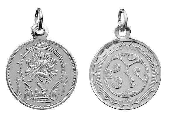 Nataraja Pendant with OM (AUM) on Reverse (Two Sided Pendant)