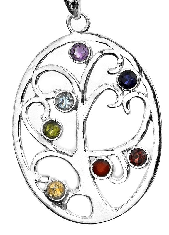 Colour Infusion Tree of Life Pendant