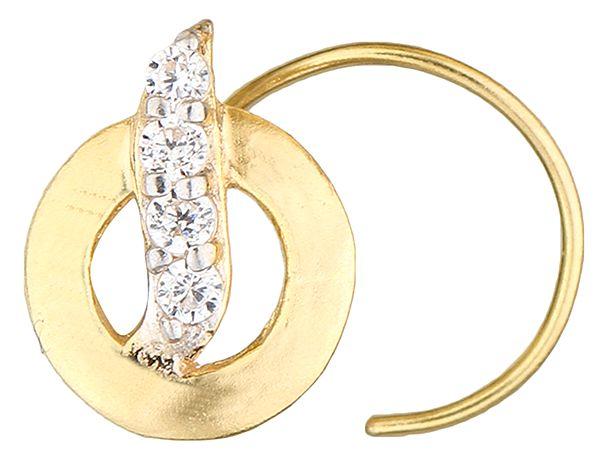 CZ Round Nose Ring