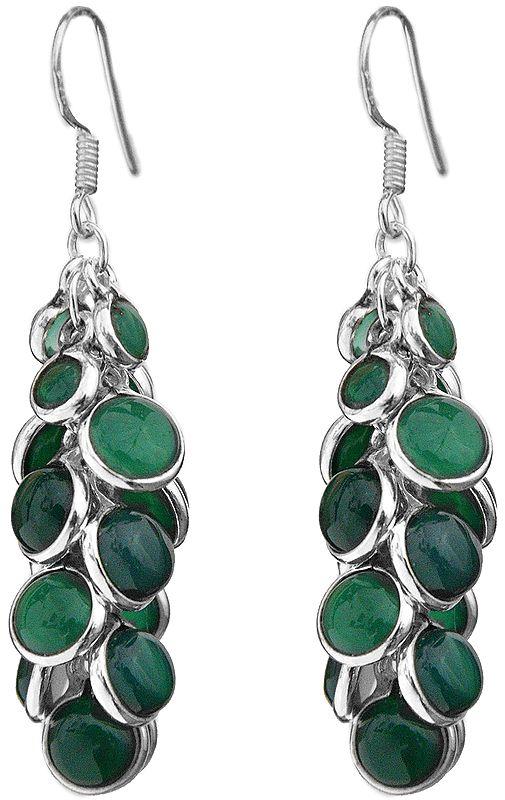 Green Onyx Bunch Earrings