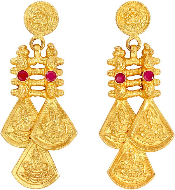 Lord Ganesha Earrings (South Indian Temple Jewelry)