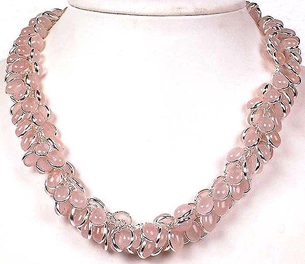 Rose Quartz Bunch Necklace