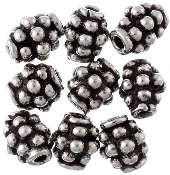 Sterling Granulated Beads (Price Per Six Pieces)