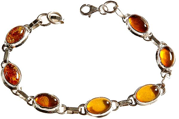 Amber Bracelet with Fish Lock