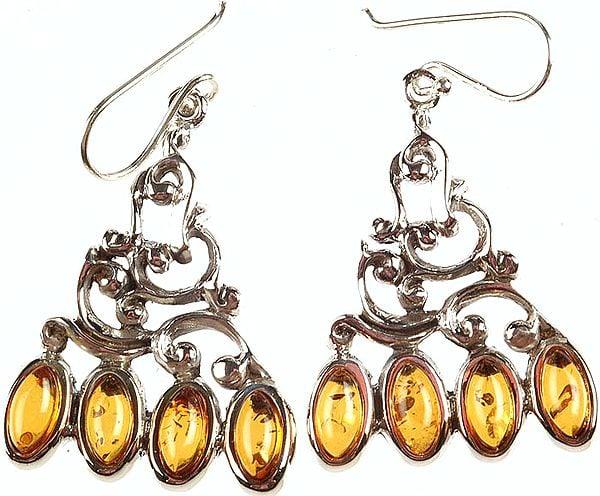 Amber Designer Earrings