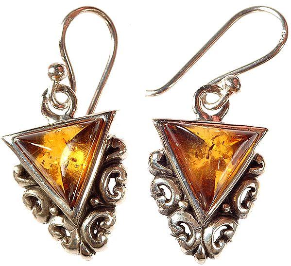 Amber Yoni Earrings