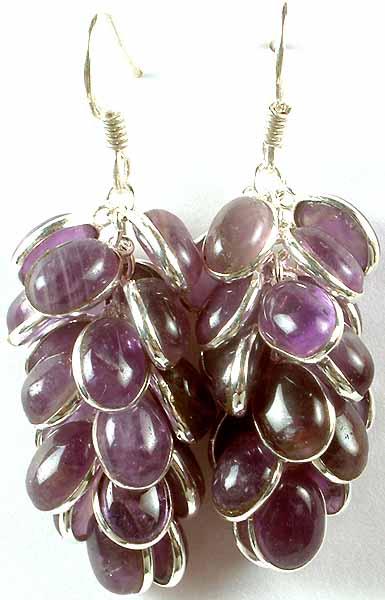 Amethyst Bunch Earrings