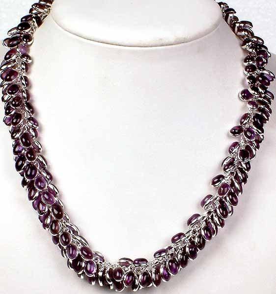 Amethyst Bunch Necklace