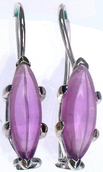 Amethyst Marquise Earrings