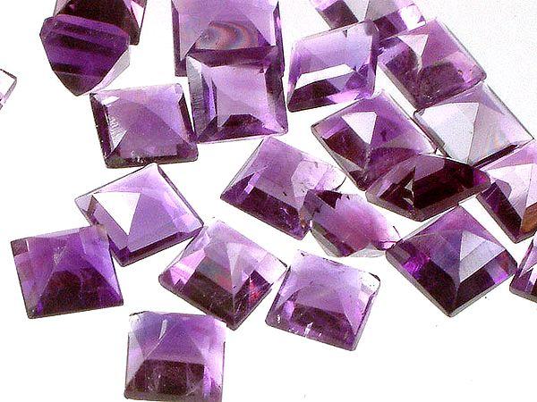 Amethyst mm Squares (Price Per 5 Pieces)