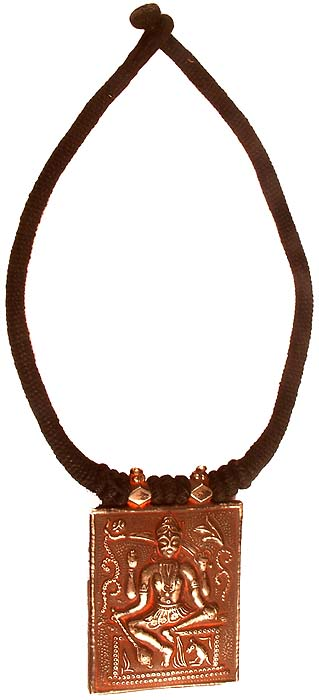 Antiquated Bhairava Necklace with Black Cord