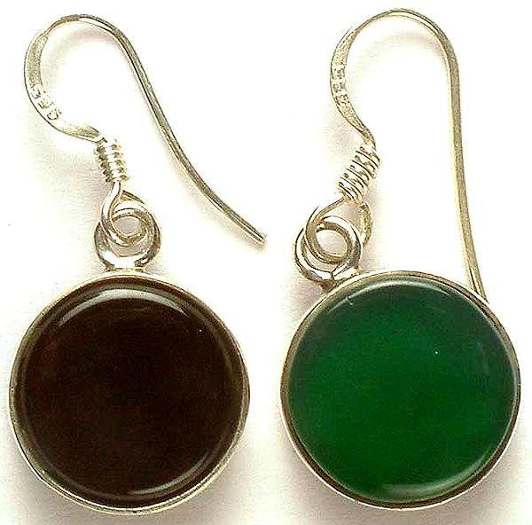 Black & Green Double-Sided Earrings