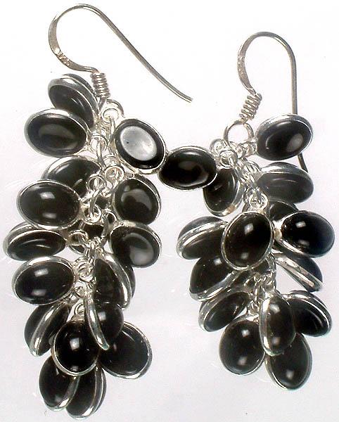 Black Onyx Bunch Earrings