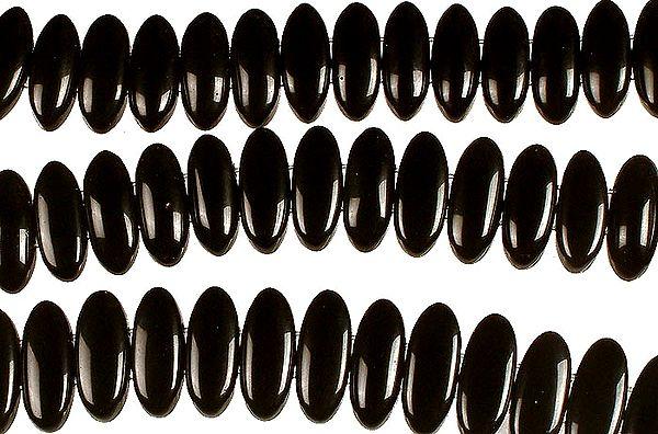 Black Onyx Side-Drilled Plain Ovals
