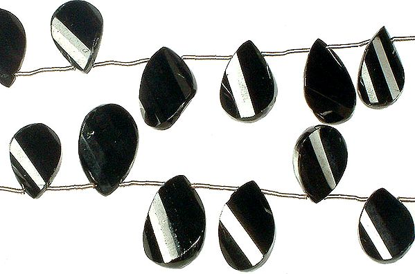 Black Onyx Twisted Briolette