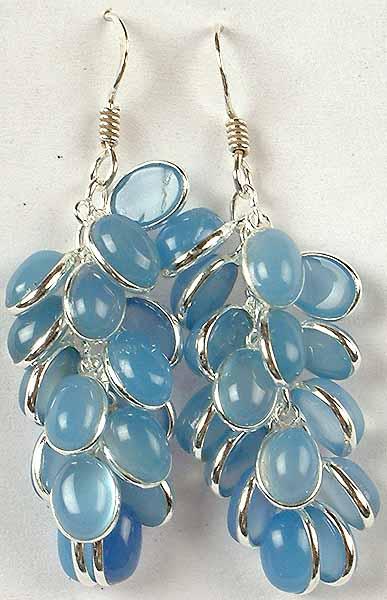 Blue Chalcedony Bunch Earrings