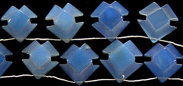 Blue Chalcedony Carved Shapes