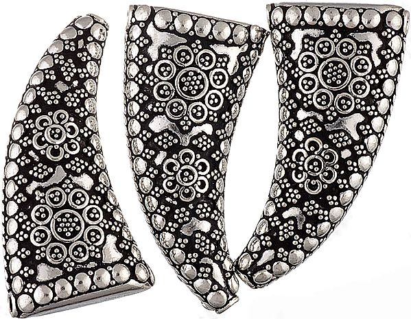 Claw Shaped Sterling Beads (Price Per Piece)