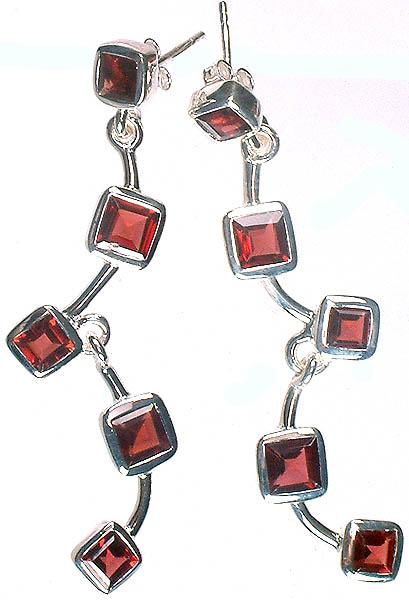 Designer Garnet Earrings