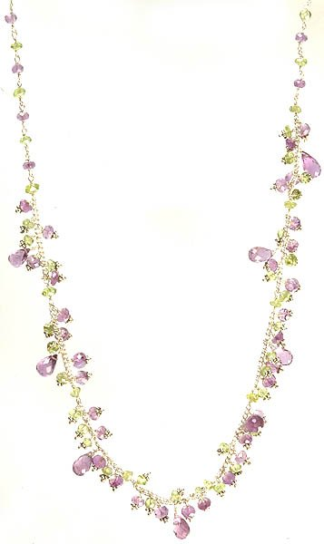 Faceted Amethyst and Peridot Necklace