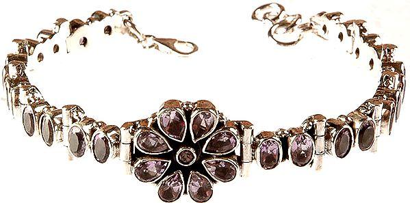 Faceted Amethyst Bracelet