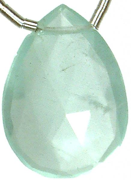 Faceted Aquamarine Briolette<br>(Price Per Piece)
