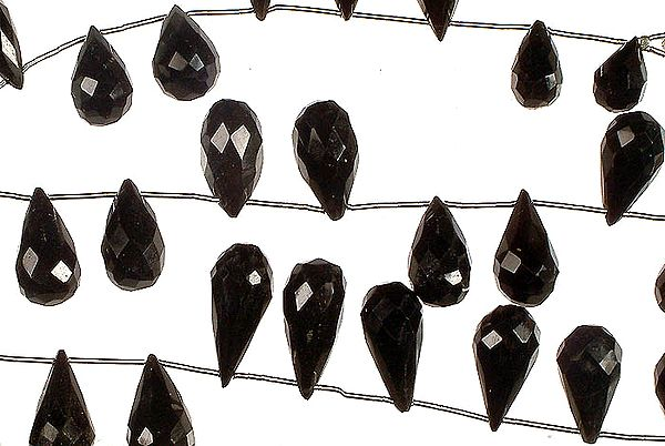 Faceted Black Onyx Drops