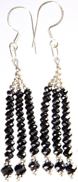 Faceted Black Onyx Earrings