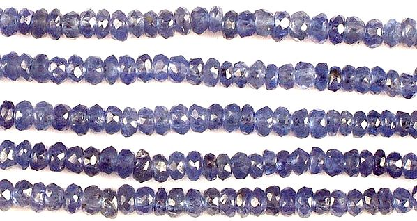 Faceted Blue Sapphire Rondells