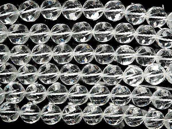 Fine Cut Incised Crystal Balls