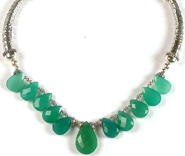 Faceted Green Onyx Choker