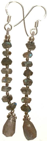 Faceted Labradorite Beaded Earrings