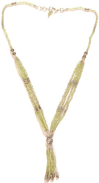 Faceted Peridot Bunch Necklace