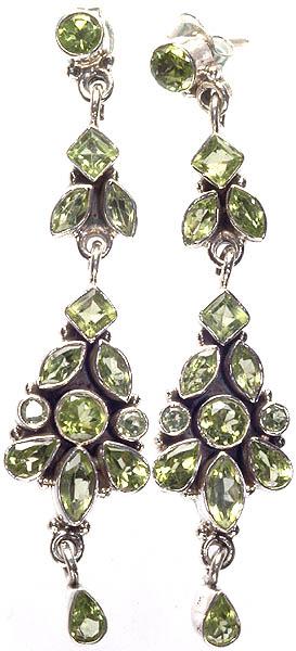 Faceted Peridot Earrings