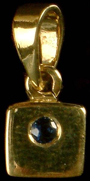 Faceted Blue Sapphire Pendant