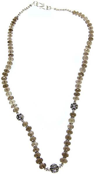 Faceted Smoky Quartz Necklace