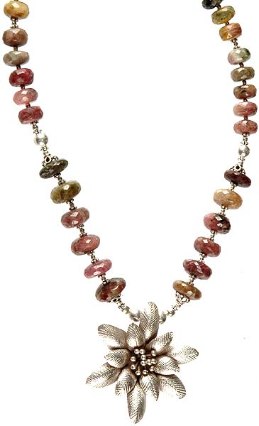 Faceted Tourmaline Rondells Necklace