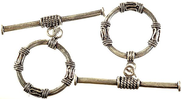 Filigree Toggle Lock with Knotted Rope (Price Per Piece)