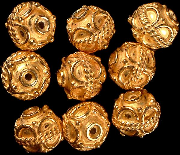 Fine Beads with Knotted Rope and Wirework (Price Per Pair)