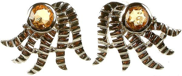 Fine Cut Citrine Designer Earrings