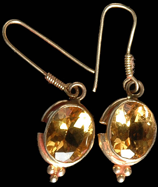 Fine Cut Citrine Earrings