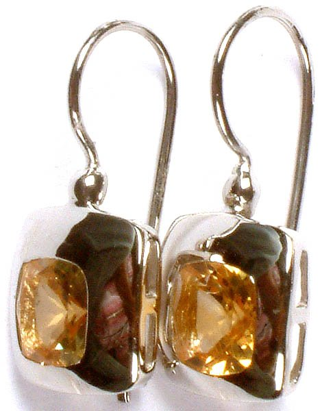 Fine Cut Citrine Superfine Earrings