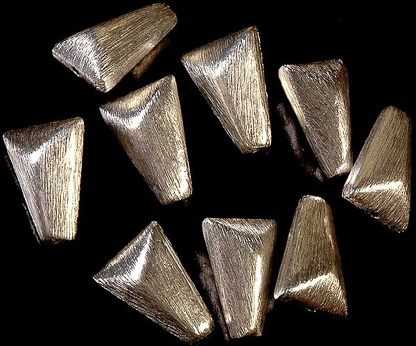 Frosted Sterling Beads (Price Per Pair)